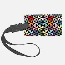 Colorful Pinwheels Black Luggage Tag