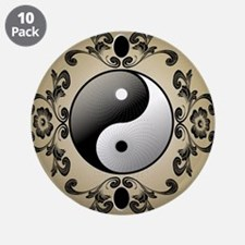 "Ying and yang 3.5"" Button (10 pack)"