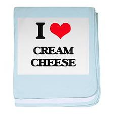 I love Cream Cheese baby blanket