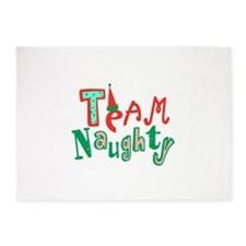 Team Naughty 5'x7'Area Rug