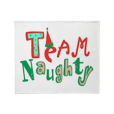 Team Naughty Throw Blanket