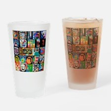 The Hebrew Alphabet Drinking Glass