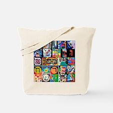 The Hebrew Alphabet Tote Bag