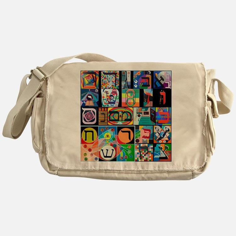 The Hebrew Alphabet Messenger Bag