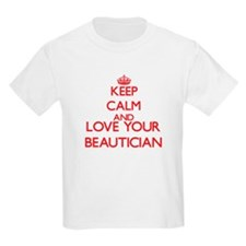 Keep Calm and love your Beautician T-Shirt