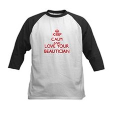 Keep Calm and love your Beautician Baseball Jersey