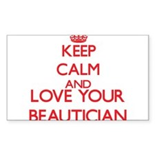 Keep Calm and love your Beautician Decal