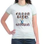 Carpe Diem Otiosam m Jr. Ringer T-Shirt