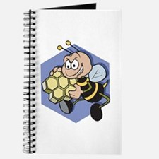 Greedy Bee With Honeycomb Journal