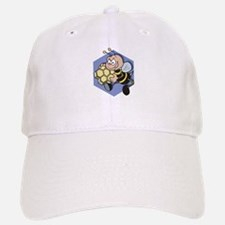 Greedy Bee With Honeycomb Baseball Baseball Cap