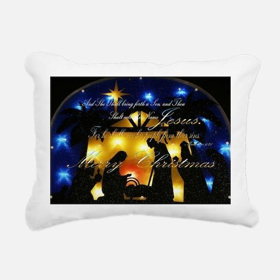Baby Jesus Rectangular Canvas Pillow