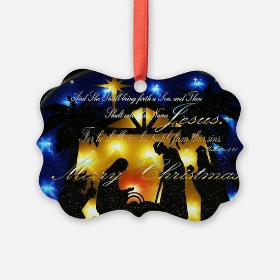 Baby Jesus Picture Ornament