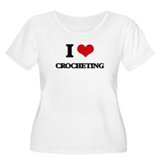 I love Crocheting Plus Size T-Shirt