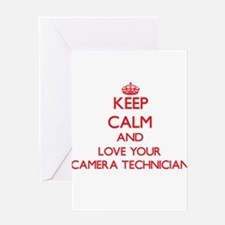 Keep Calm and love your Camera Tech Greeting Cards