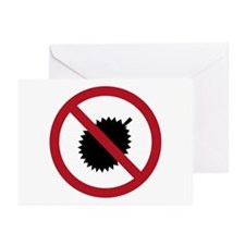 No Durians Sign, Singapo Greeting Cards (Pk of 10)