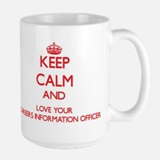Keep Calm and love your Careers Information O Mugs