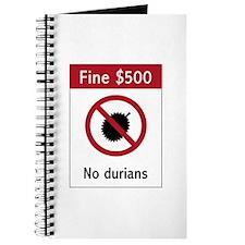 No Durians Sign, Singapore Journal