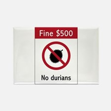 No Durians Sign, Singapore Rectangle Magnet