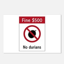 No Durians Sign, Singapor Postcards (Package of 8)