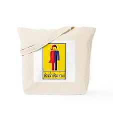 Transgender Toilet Sign, Thailand Tote Bag