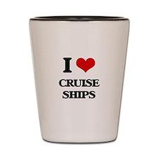 I love Cruise Ships Shot Glass