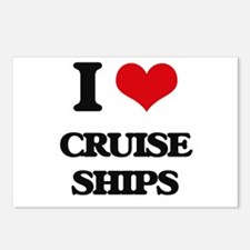 I love Cruise Ships Postcards (Package of 8)