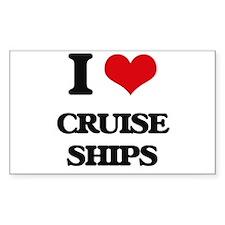 I love Cruise Ships Decal
