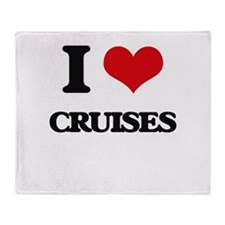 I love Cruises Throw Blanket