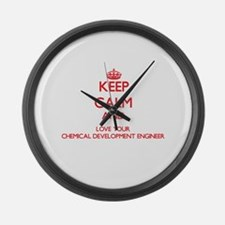 Keep Calm and love your Chemical Large Wall Clock