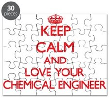 Keep Calm and love your Chemical Engineer Puzzle