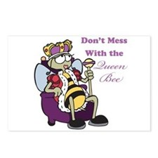Don't Mess With Queen Bee Postcards (Package of 8)