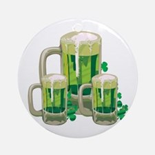 Green Beer Ornament (Round)