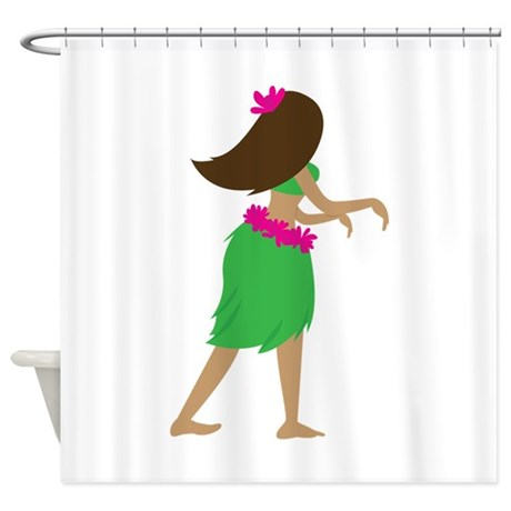 hula girl shower curtain by windmill34