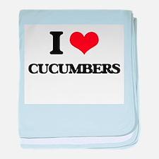 I love Cucumbers baby blanket