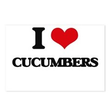 I love Cucumbers Postcards (Package of 8)