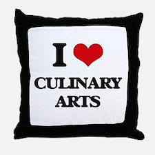 I love Culinary Arts Throw Pillow