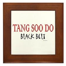 Tang Soo Do Black Belt 1 Framed Tile