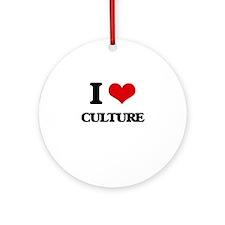 I love Culture Ornament (Round)
