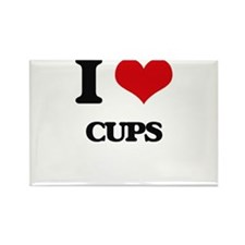 I love Cups Magnets