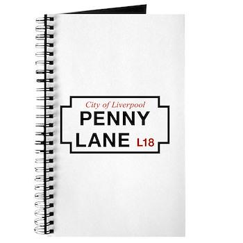 Penny Lane, Liverpool Street Sign, UK Journal