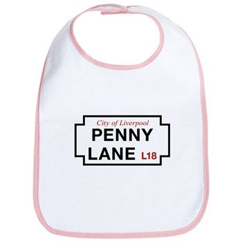 Penny Lane, Liverpool Street Sign, UK Bib