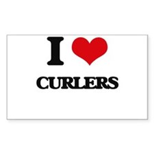 I love Curlers Decal