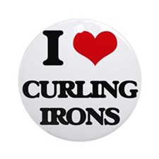 I love Curling Irons Ornament (Round)