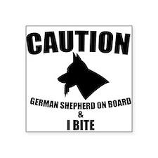 Caution German Shephed Sticker