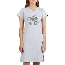 Crazy ferret lady Women's Nightshirt