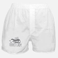 Crazy ferret lady Boxer Shorts