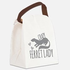 Crazy ferret lady Canvas Lunch Bag