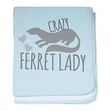 Crazy ferret lady baby blanket