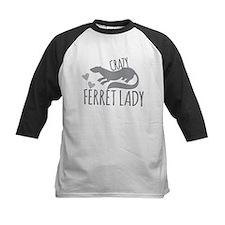 Crazy ferret lady Baseball Jersey