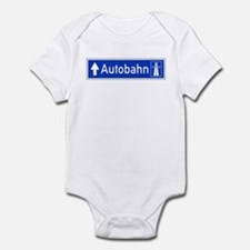 Autobahn Sign, Germany Infant Bodysuit
